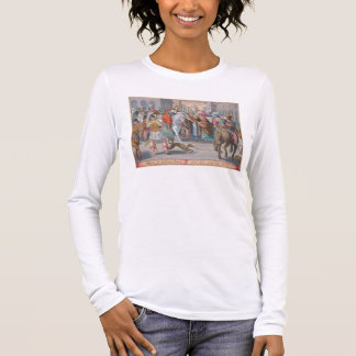 Two Monks Present Silkworms Smuggled from China to Long Sleeve T-Shirt