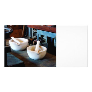 Two Mortars and Pestles in Lab Photo Cards