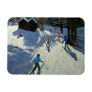 Two mountain huts Pleney Morzine Magnet