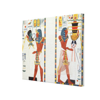 Two Murals from the Tombs of the Kings of Thebes, Canvas Print