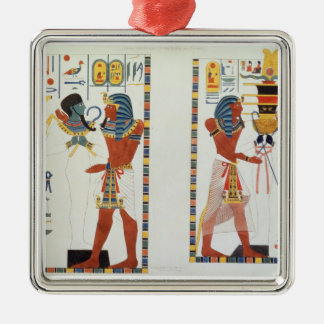 Two Murals from the Tombs of the Kings of Thebes, Christmas Ornament