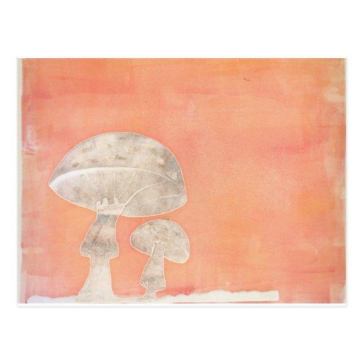 Two Mushrooms Postcard