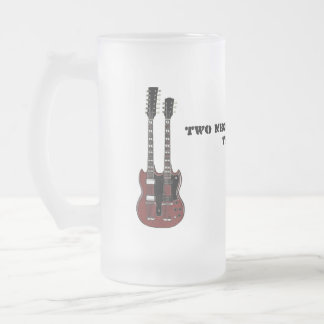 Two Necks Are Better Than One 16 Oz Frosted Glass Beer Mug