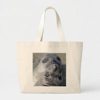 Two Northern Elephant Seals Jumbo Tote Bag