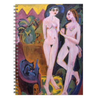 Two Nudes in a Room by Ernst Kirchner Spiral Note Books