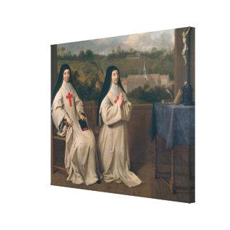 Two Nuns Canvas Print