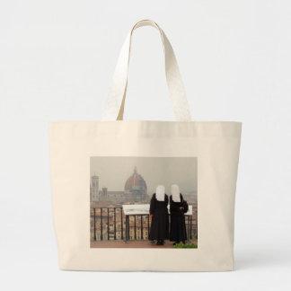 Two Nuns, Florence, Italy Jumbo Tote Bag