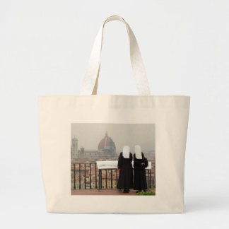 Two Nuns, Florence, Italy Large Tote Bag