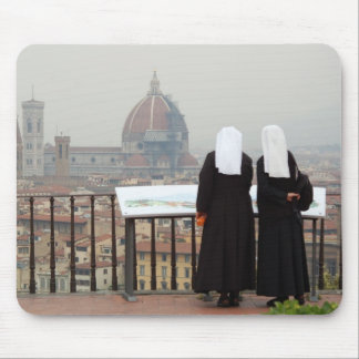 Two Nuns, Florence, Italy Mouse Mat