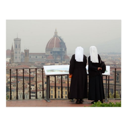 Two Nuns, Florence, Italy Post Card