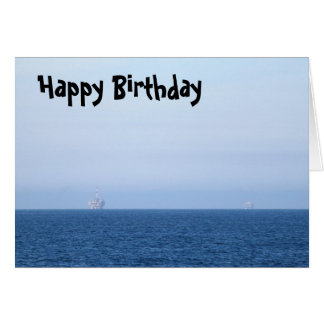 Two Oil Rigs Greeting Card