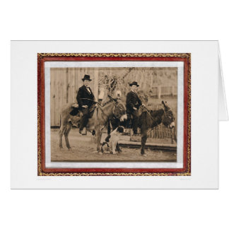 Two O'Keefe boys on donkeys (40040) Greeting Card