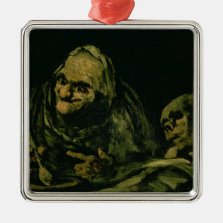 Two Old Men Eating Christmas Ornament