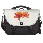 Two Orange Lilies Bags For Laptop