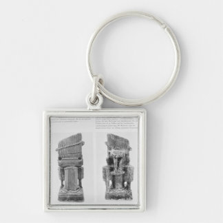 Two organs Silver-Colored square key ring