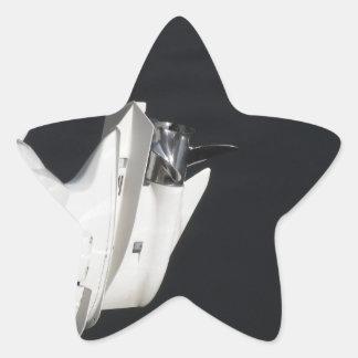 Two outboard boat motors star sticker