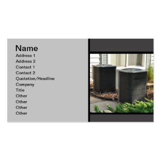 two outdoor central air conditioner units pack of standard business cards