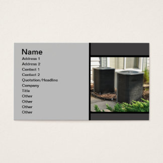 two outdoor central air conditioner units business card