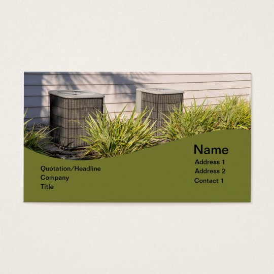 two outdoor central air conditioners business card