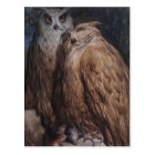 Two Owls by Gustave Dore Postcard
