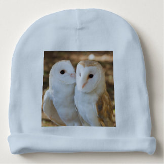 two owls friends baby beanie