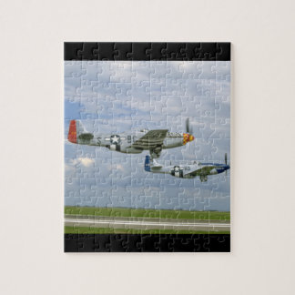 Two P51 Mustangs Flying By._WWII Planes Jigsaw Puzzle