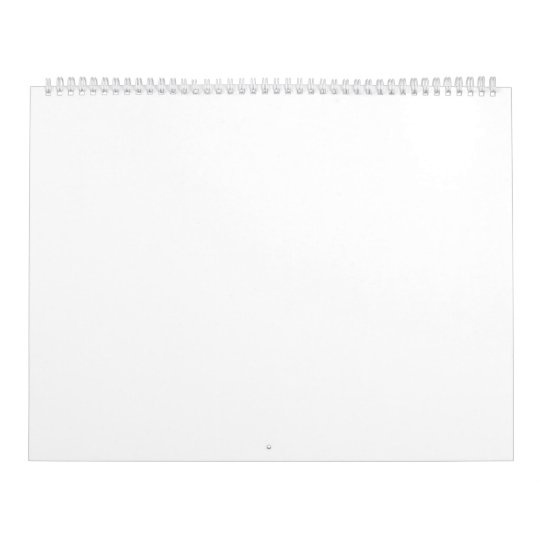 Two Page, Large, White Calendar