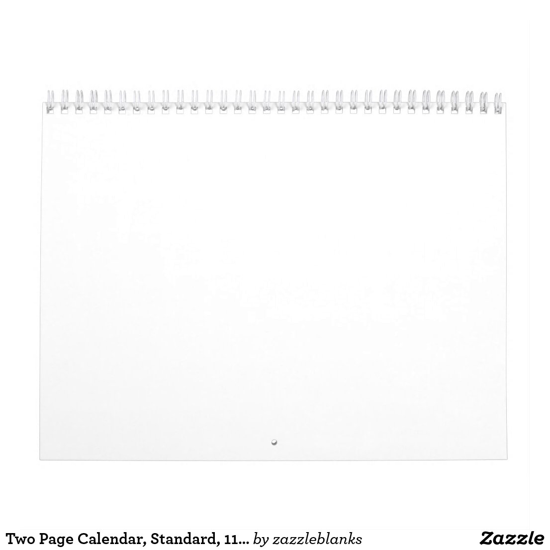 Two Page Calendar, Standard