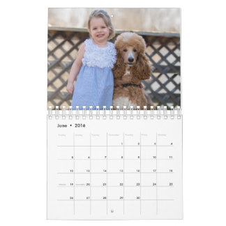 Two Page, Small, White Calendar