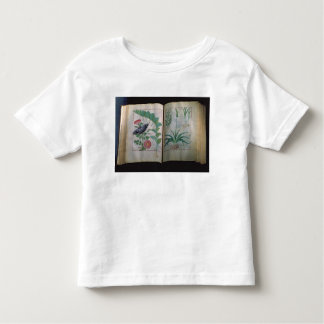 Two pages depicting Rose and Garlic Toddler T-Shirt