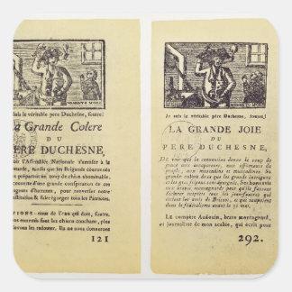 Two pages from 'La Grande Colere de Pere Square Sticker