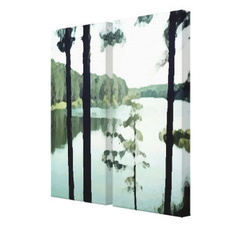 Two Panel Lakeview Canvas Print
