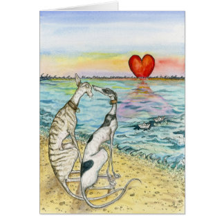 """Two paper boats"" Greeting Card"