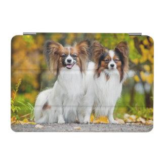 Two Papillon dogs in autumn iPad Mini Cover