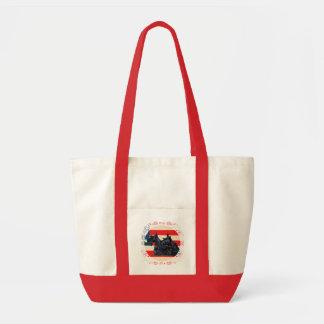 Two Patriotic Scottish Terriers Canvas Bag