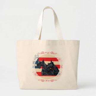 Two Patriotic Scottish Terriers Bag