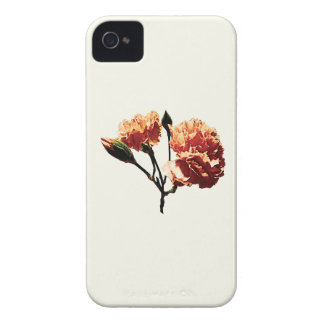 Two Peach Carnations Case-Mate iPhone 4 Cases