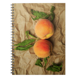 Two peaches. notebook