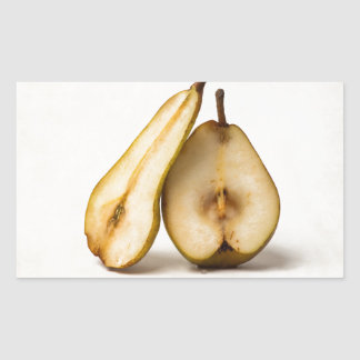 Two pear halves - My Sweet And Perfect Half Rectangular Sticker