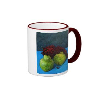 two pears with grape vine coffee mug