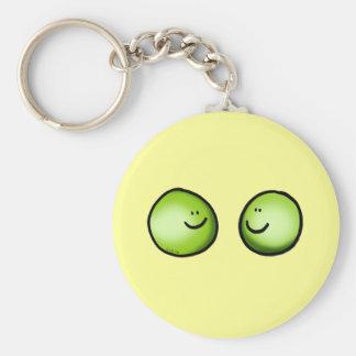 Two peas basic round button key ring