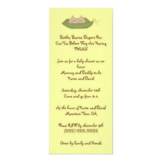 Two Peas in a Pod 10 Cm X 24 Cm Invitation Card