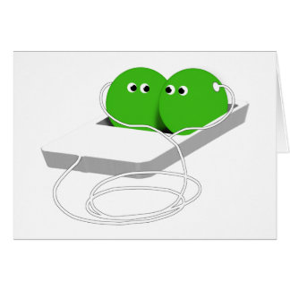 Two Peas In A Pod Add Your Text Greeting Cards