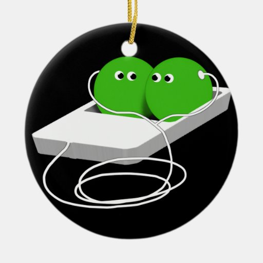 Two Peas In A Pod Christmas Ornament
