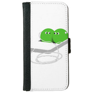 Two Peas In A Pod (Add Your Text) iPhone 6 Wallet Case