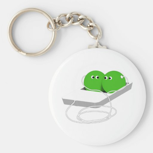 Two Peas In A Pod (Add Your Text) Keychains