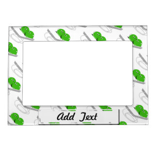 Two Peas In A Pod (Add Your Text) Magnetic Picture Frame