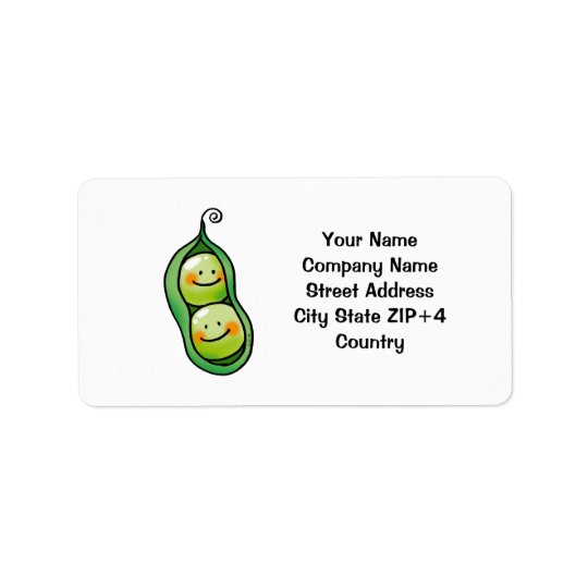 Two peas in a pod address label