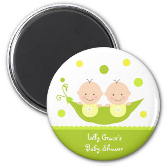 Two Peas in A Pod Baby Shower Magnets