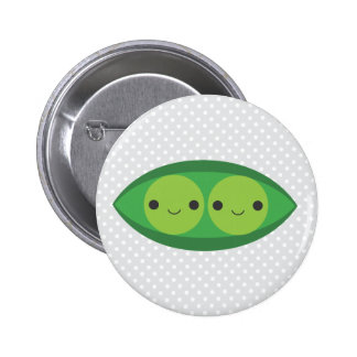Two Peas in a Pod 6 Cm Round Badge